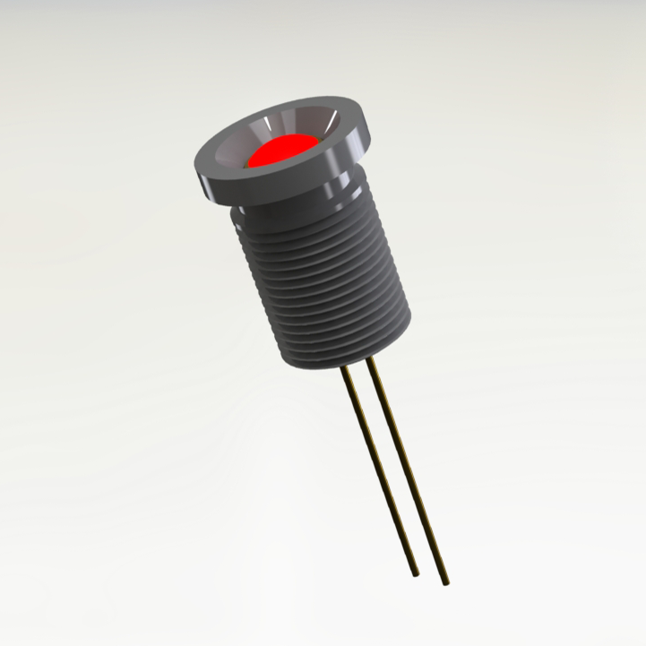 Commercial Panel Mount Red Hermetic LED Indicator (Similar To 1N6092)