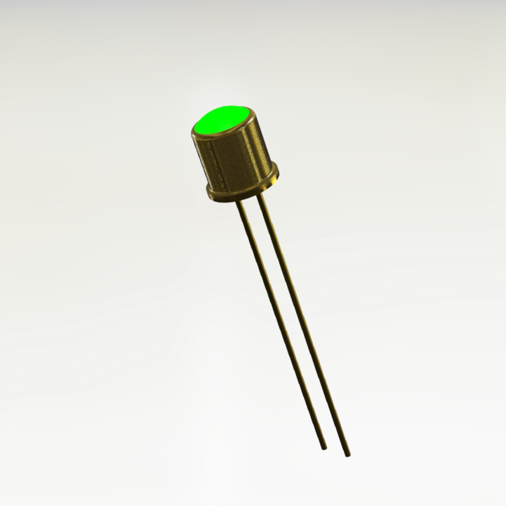 JAN1N6611 Green Hermetic LED Indicator