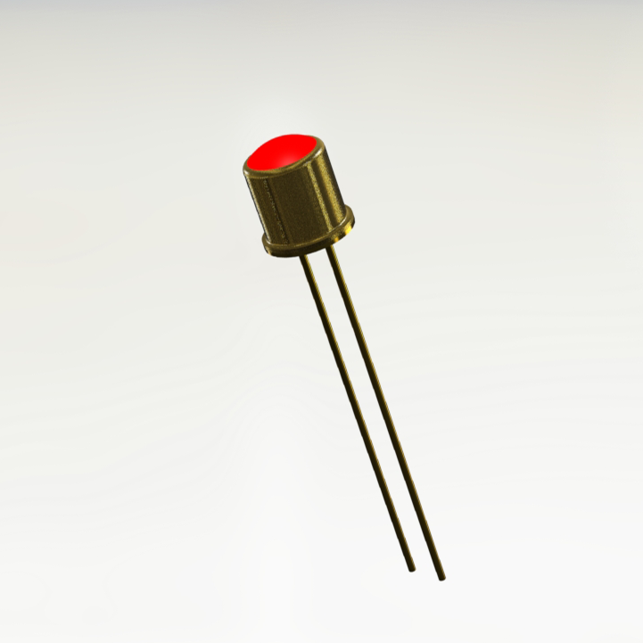 Commercial TO-46 Red Hermetic LED Indicator (Similar To 1N6609)